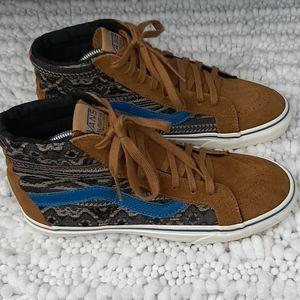 Vans Suede Tribal Aztec Hi-Top Sneakers Sz 8